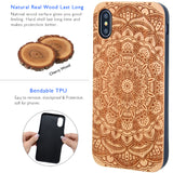 Flower Wood Case iPhone XS Max Case