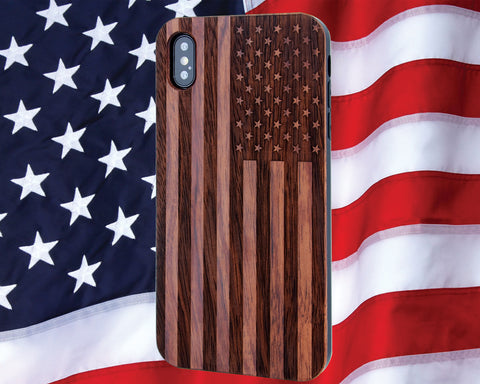 US Flag Phone Case Includes Magnetic Car Mount or 9H Glass Protector for all iPhone 6,6s,7,8, Plus, X, Xs, XR, Xs Max Cases