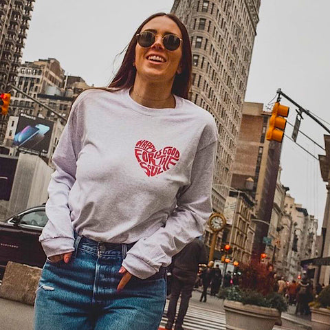 Happy Is Good For The Soul Heart Women's Tee - Found My Happy