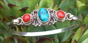 Turquoise Coral Bracelet #12