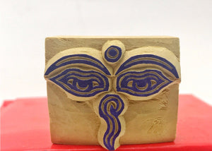 Buddha Eyes of Compassion Wood Stamp #3