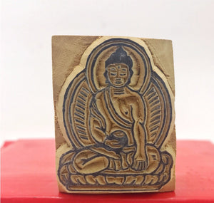 Buddha Form Wood Stamp #2