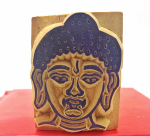 Buddha Head Wood Stamp #1
