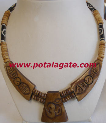 Dorjee with Om Necklace #45