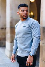 Marl sweatshirt for men, made from 100% organic cotton