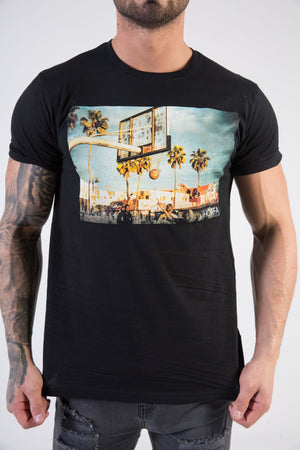 BBALL Muscle Fit T-Shirt - HÖRFA is a men's global fashion brand that provides products such as Fashionable Watches, Wallets, Sunglasses, Belts, Beard and Male Grooming Products