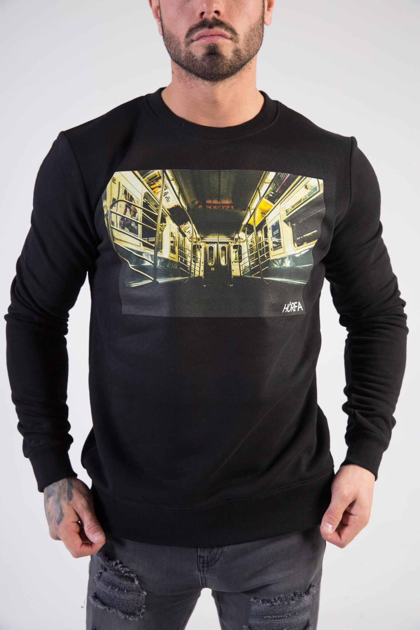 SUBWAY Sweatshirt - HÖRFA is a men's global fashion brand that provides products such as Fashionable Watches, Wallets, Sunglasses, Belts, Beard and Male Grooming Products