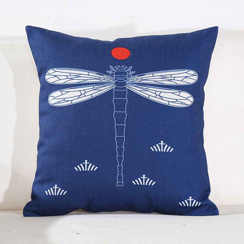 Dragonfly Moon Pillow
