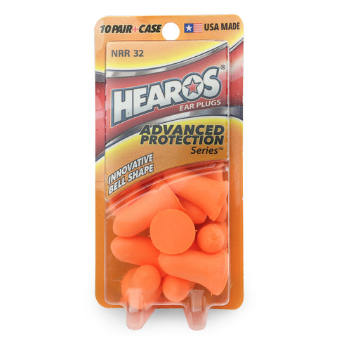 Hearos Advanced Protection Earplugs - 10 Pairs