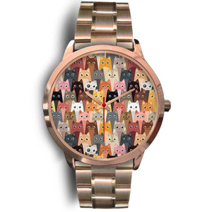 Cute Cats Rose Gold Watch