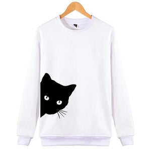 Cute Cat Looking Sweatshirts