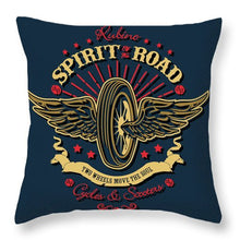 Rubino Motorcycle And Scooters - Throw Pillow