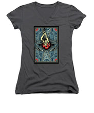 Rubino Steampunk Rise - Women's V-Neck (Athletic Fit)