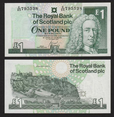 banknote of Scotland 1 Pound in UNC condition