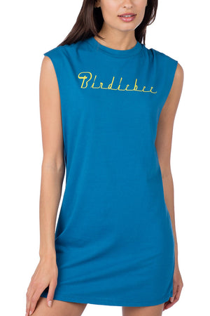 JEWEL BLUE MUSCLE TEE DRESS