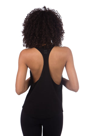 BLACKOUT CROPPED RACERBACK TANK
