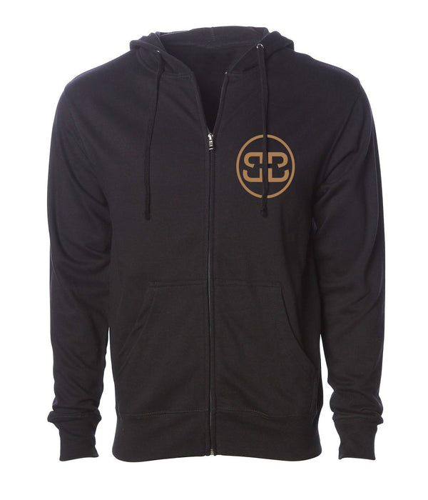 GOLD DOUBLE Bs CHILL ZIP HOODIE