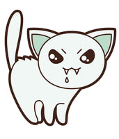 Adorable Asian Kitty Cat  (2) Vinyl Decal Sticker