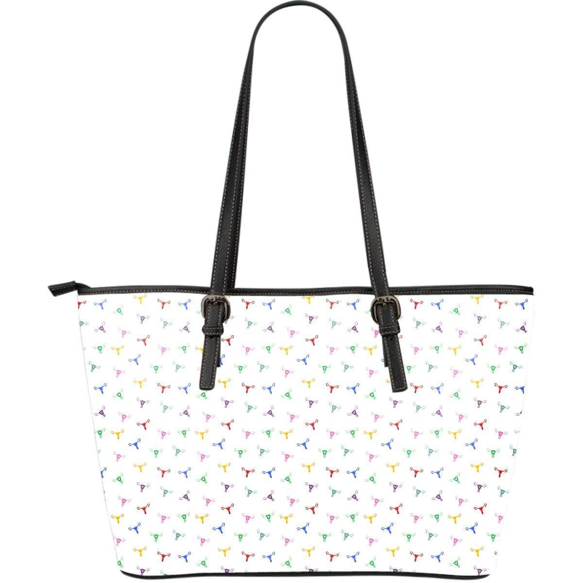 Rainbow Uterus Confetti Vegan Leather Bag