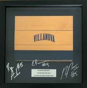 Basketball Court Wood Shadow Box Signed by Arcidiacono, Booth and Paschall!