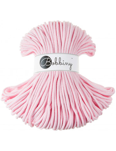 Baby Pink & White Bobbiny Cotton Rope 100m