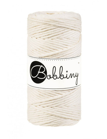 Natural Bobbiny 3mm Macrame Rope 100m