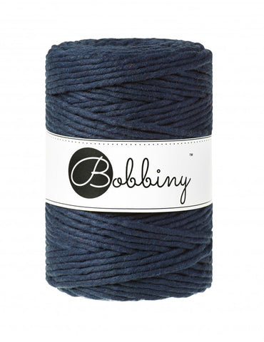 Navy Bobbiny 5mm Macrame Rope 100m