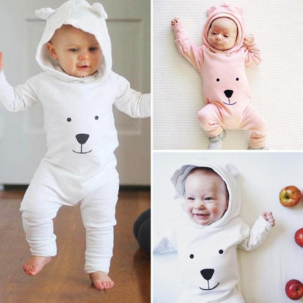 PINkart-USA Baby Rompers Cotton Cute Bear Jumpsuit One-Piece Clothing Warm Daily Wear Jumpsuit Warm Born Infant