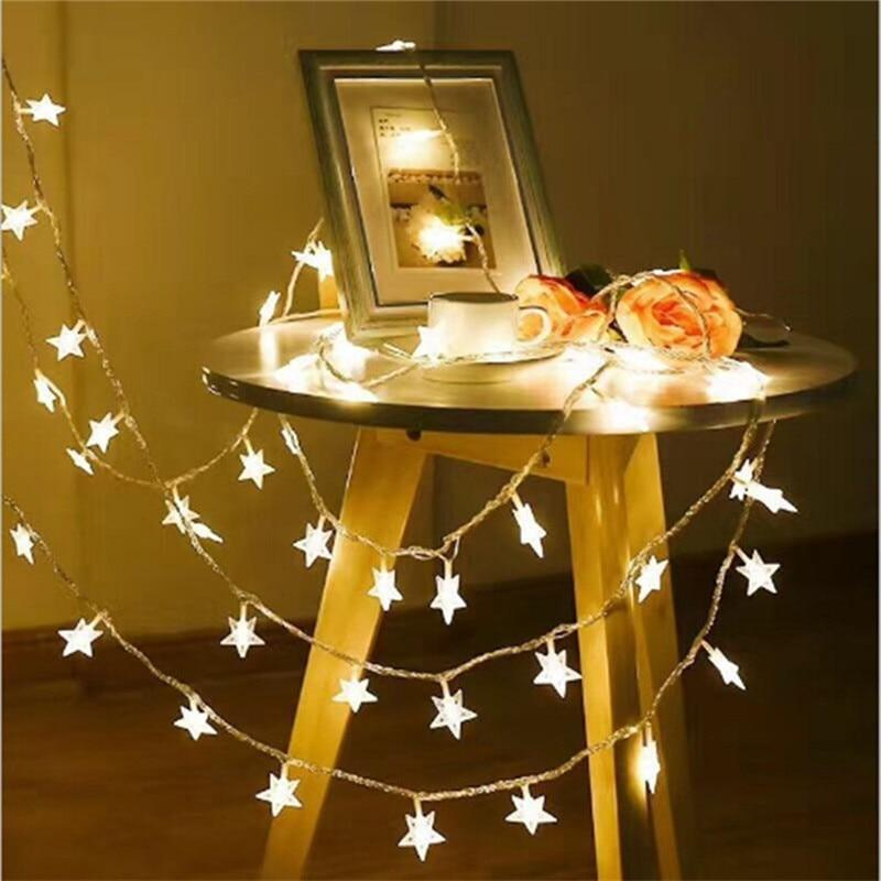 PINkart-USA Bhomify 1/2M Led Star String Lights Led Fairy Lights Christmas Wedding Decoration Lights Aa Battery