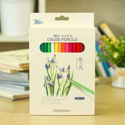 PinKart-USA Online Shopping 36 color pack Nature Story Color Pencils For Drawing 36 Different Colores Pencil Set Crayon Stationery Office