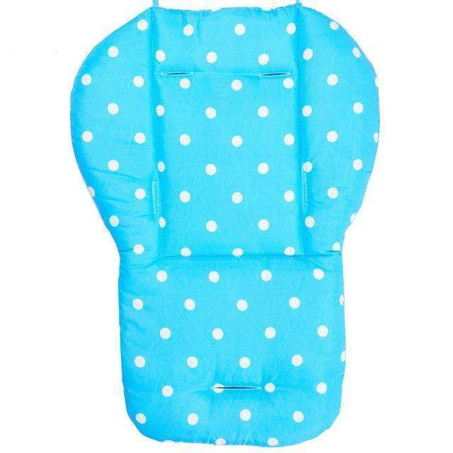PinKart-USA Online Shopping Blue Baby Infant Stroller Seat Pushchair Pram Cushion Cotton Mat With White Dot, Skin-Friendly Thick