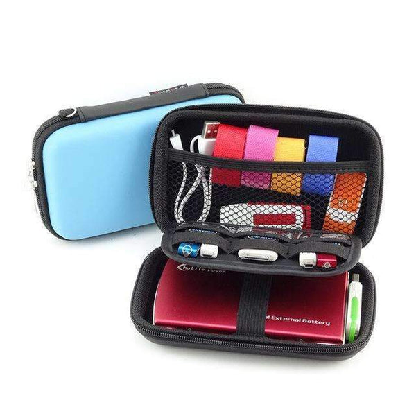 PinKart-USA Online Shopping Blue Lasperal Mobile Hard Storage Box Organizer For Ear Cup Disk Drive Storage Container Electronic Part