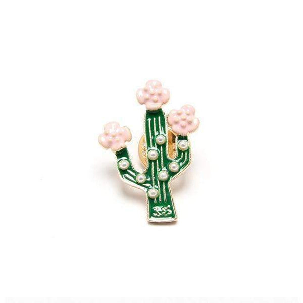 PinKart-USA Online Shopping Cactus F.J4 Vintage Designer Enamel Styled Pineapple Shell Tree Shell Brooches Pins For