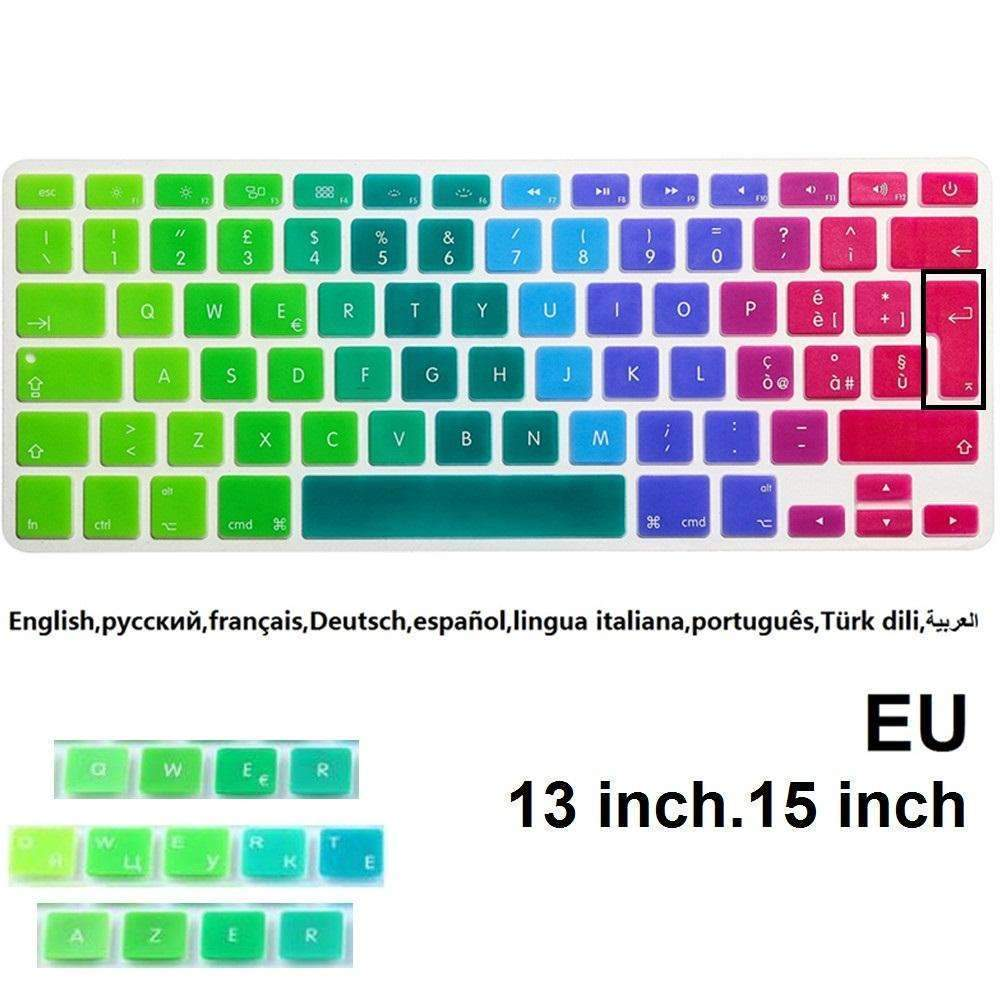 PinKart-USA Online Shopping Color Silicone Eu Keyboard Case Cover Protector For Macbook Air 13 Inch Pro Retina 13 15 Inch