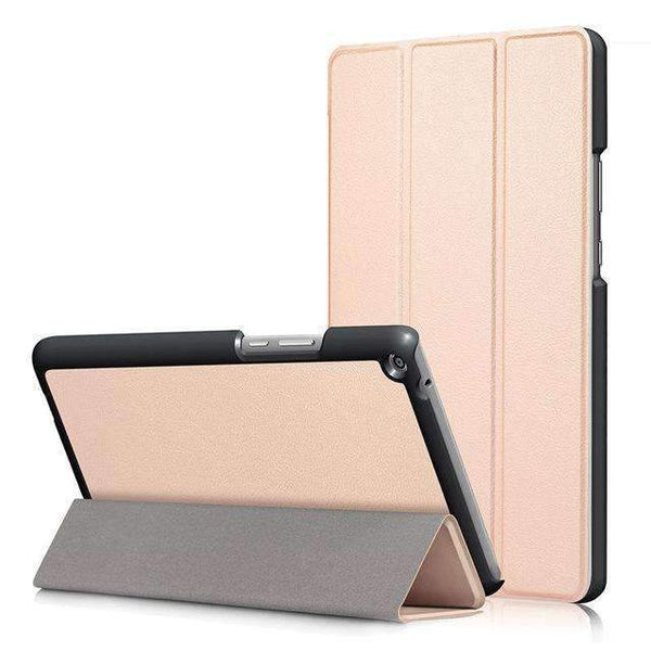 PinKart-USA Online Shopping Gold Ultra Slim Cover Case For Huawei Mediapad T3 8.0 Kob-L09 Kob-W09 Funda Tablet Pu Stand Case For
