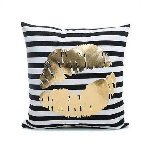PinKart-USA Online Shopping Lips Several Styles Cotton Pillow Cover Creative Shining Gilding Pattern Gift Pillow Case Throw