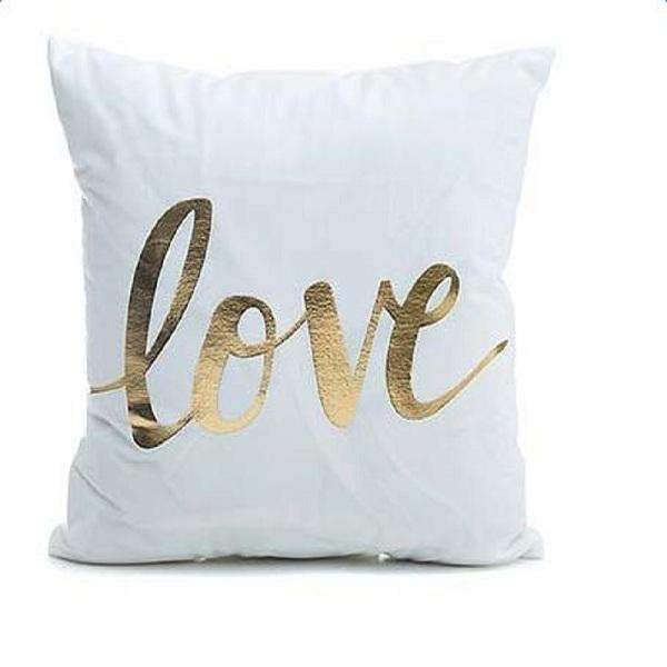 PinKart-USA Online Shopping Love Several Styles Cotton Pillow Cover Creative Shining Gilding Pattern Gift Pillow Case Throw