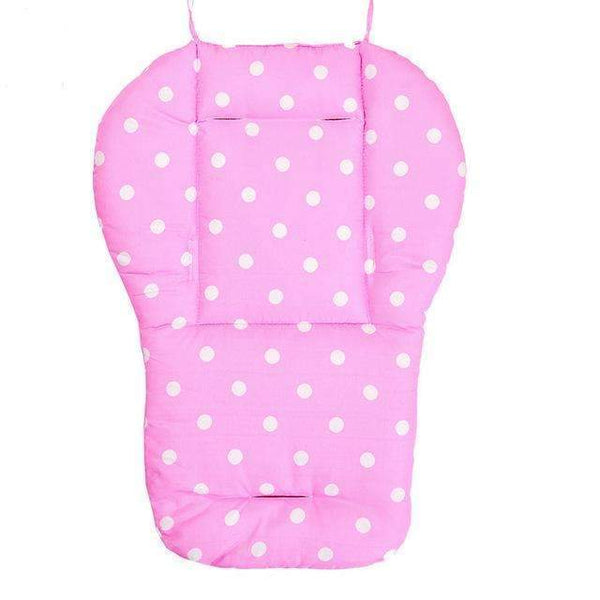 PinKart-USA Online Shopping Pink Baby Infant Stroller Seat Pushchair Pram Cushion Cotton Mat With White Dot, Skin-Friendly Thick