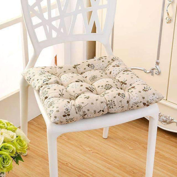 PinKart-USA Online Shopping pu gong ying / 40x40cm 40*40Cm Cheap Soft Home Office Linen Outdoor Square Cotton Seat Pad Thicken Cushion Buttocks Chair