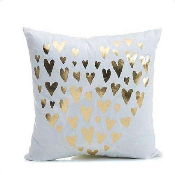 PinKart-USA Online Shopping Small Heart Several Styles Cotton Pillow Cover Creative Shining Gilding Pattern Gift Pillow Case Throw