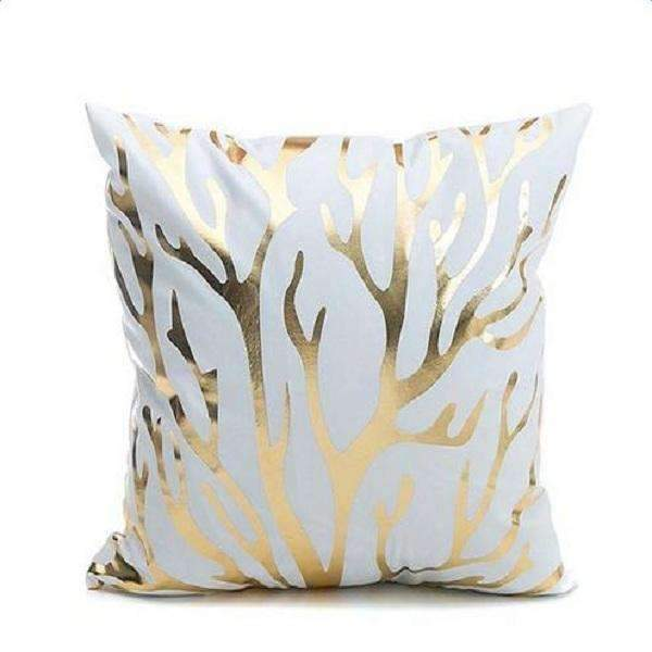 PinKart-USA Online Shopping Tree Several Styles Cotton Pillow Cover Creative Shining Gilding Pattern Gift Pillow Case Throw