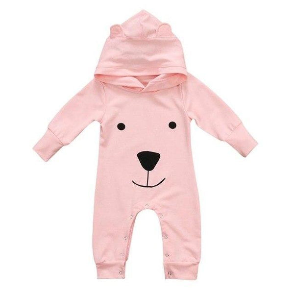 PINkart-USA Pink / 6M Baby Rompers Cotton Cute Bear Jumpsuit One-Piece Clothing Warm Daily Wear Jumpsuit Warm Born Infant