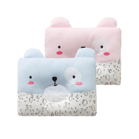 PINkart-USA Pink Dog Cotton Baby Pillow Dog Shape Prevent Flat Head Shaping Pillow For Infant Kids Room Decoration