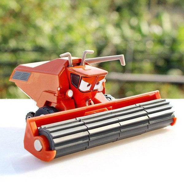 PINkart-USA Red Frank Pixar Cars 2 Harvester Frank Tractor Lightning Mcqueen 1:55 Diecasts Metal Car Model Birthday