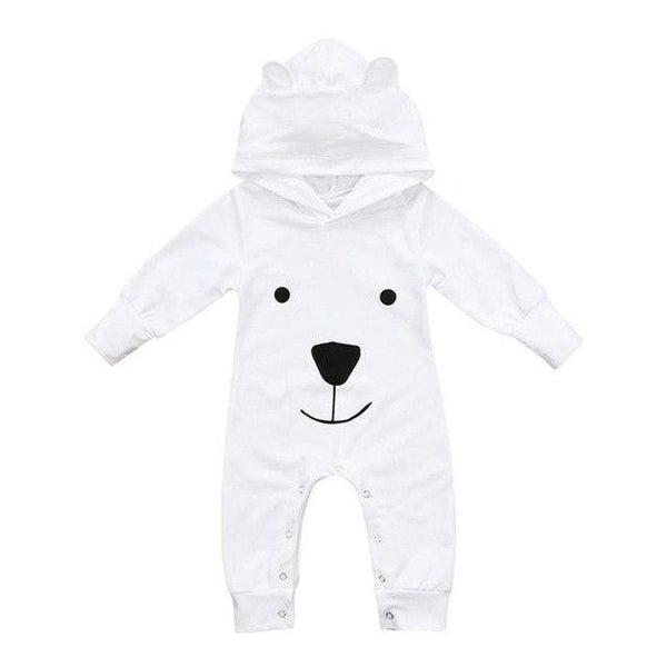 PINkart-USA White / 6M Baby Rompers Cotton Cute Bear Jumpsuit One-Piece Clothing Warm Daily Wear Jumpsuit Warm Born Infant