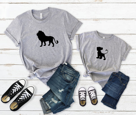 Mufasa & Simba Father & Son T-shirt Set, Shirts For Father's & Son's, Father's Day Shirt Set, The Lion King