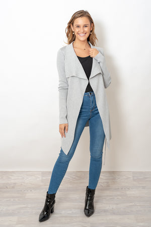 THE MONSAC CARDI - GREY