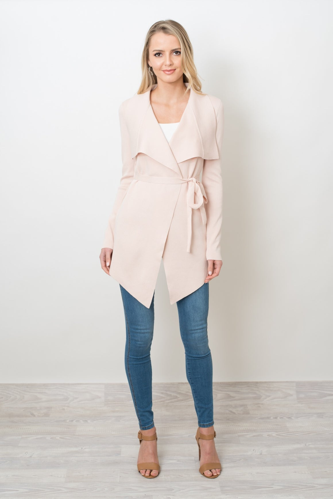 THE MONSAC CARDI - BLUSH