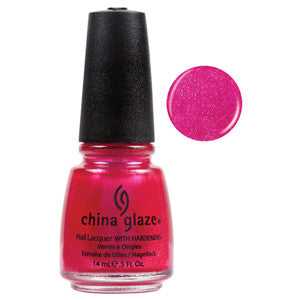 108 Degrees China Glaze Nail Varnish in Pink Shimmer colour