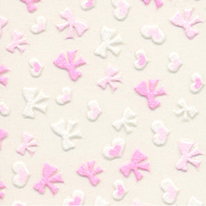 3D Nail Art Stickers Pink Bows